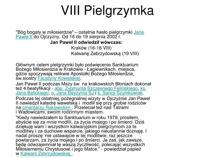 VIII Pielgrzymka