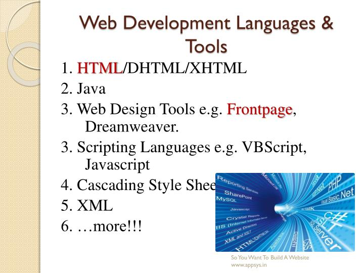 Web Development Languages & Tools