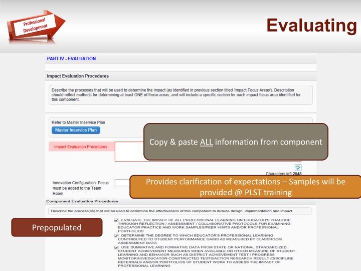 Evaluating