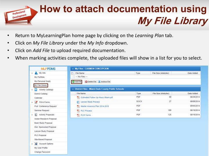 How to attach documentation using