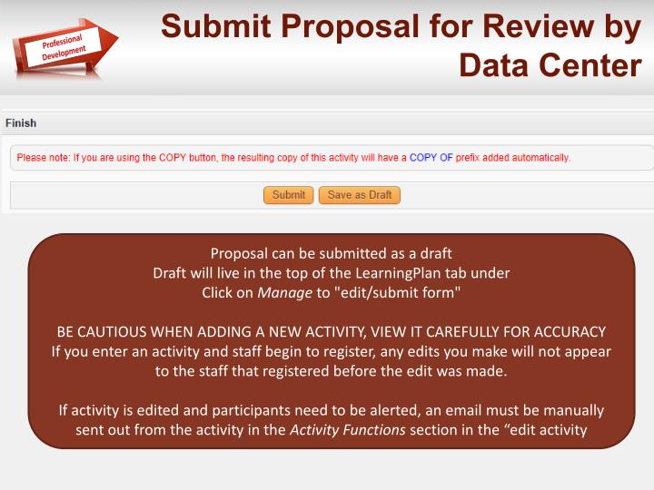 Submit Proposal for Review by