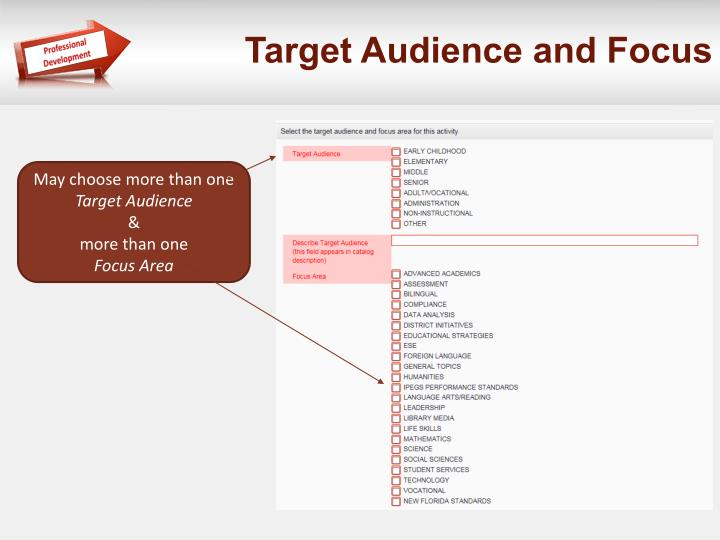 Target Audience and Focus