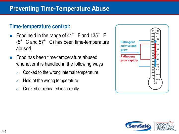 Preventing Time-Temperature Abuse