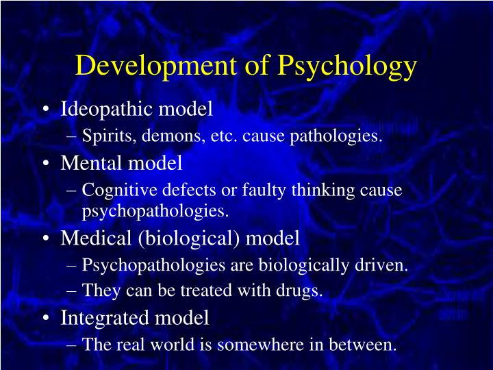 Development of Psychology