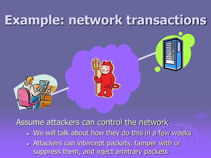 Example: network transactions