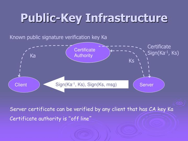 Public-Key Infrastructure