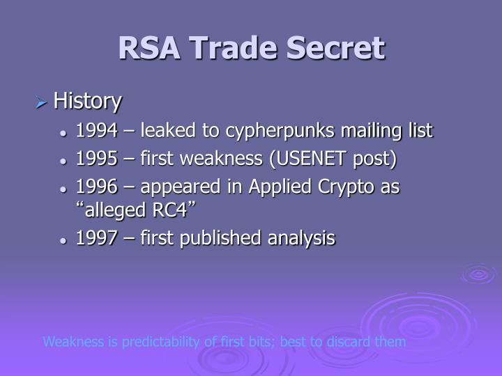 RSA Trade Secret