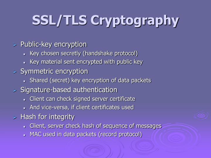 SSL/TLS Cryptography