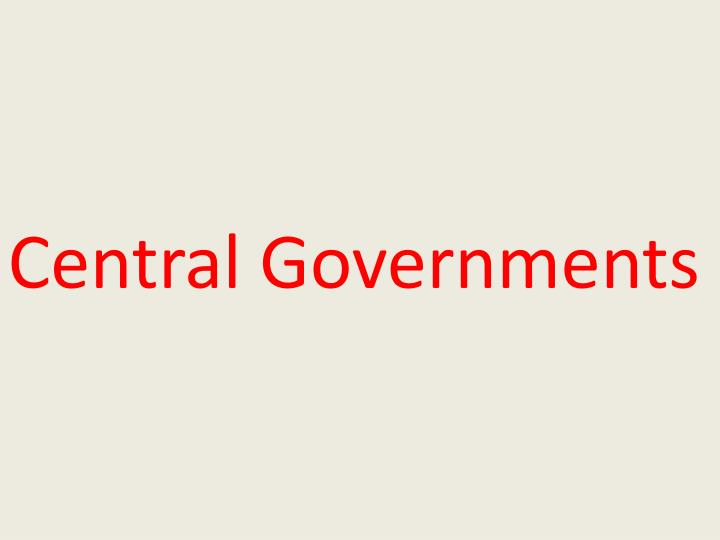 Central Governments
