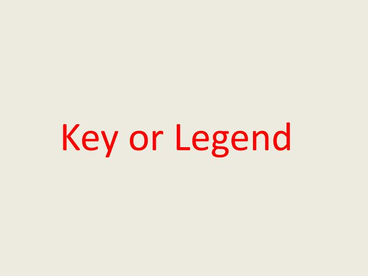 Key or Legend