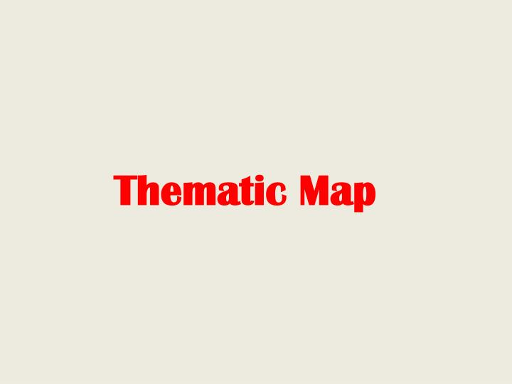 Thematic Map