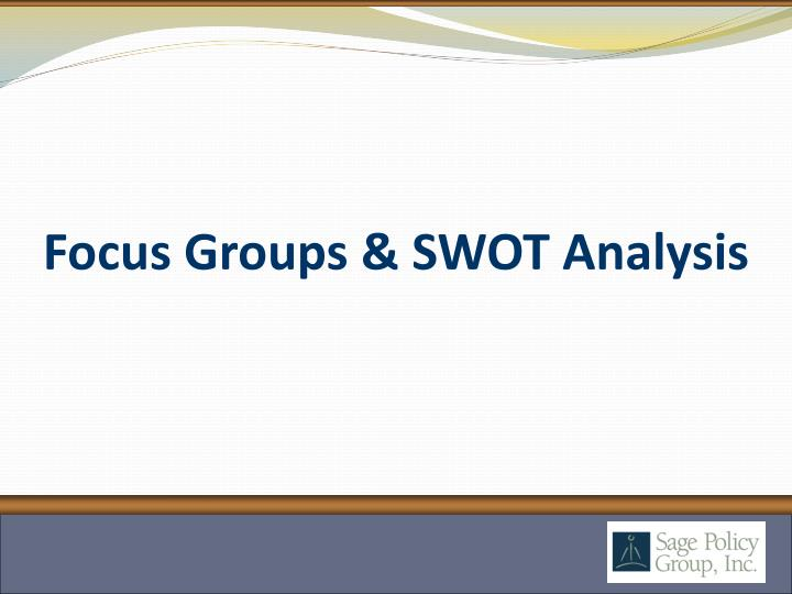 Focus Groups & SWOT Analysis