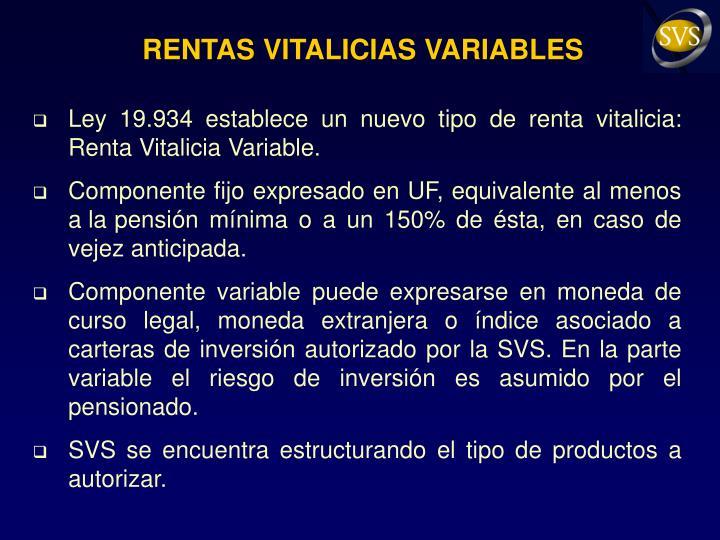 RENTAS VITALICIAS VARIABLES