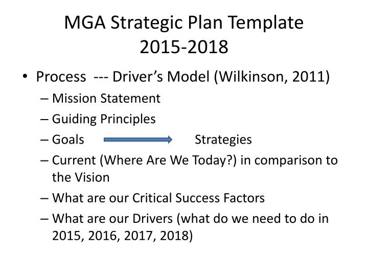 Mga strategic plan template 2015 2018