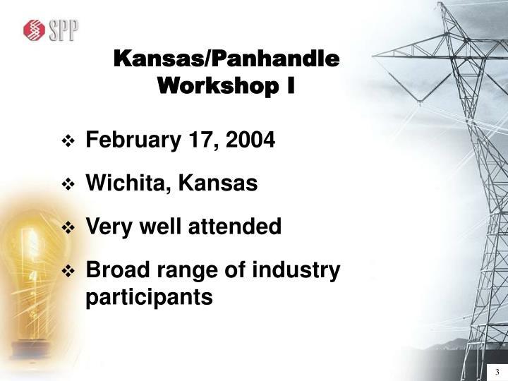 Kansas/Panhandle Workshop I