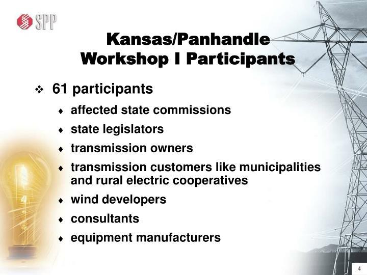 Kansas/Panhandle Workshop I Participants
