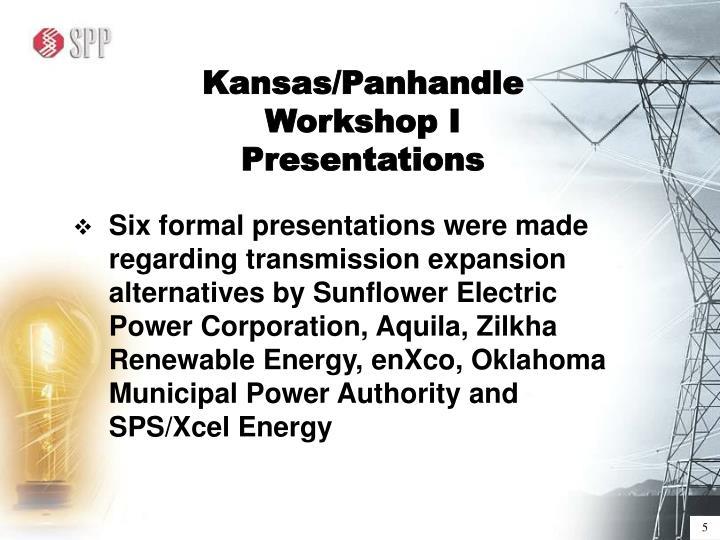 Kansas/Panhandle Workshop I Presentations