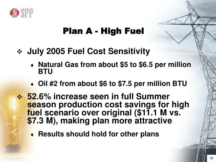 Plan A - High Fuel