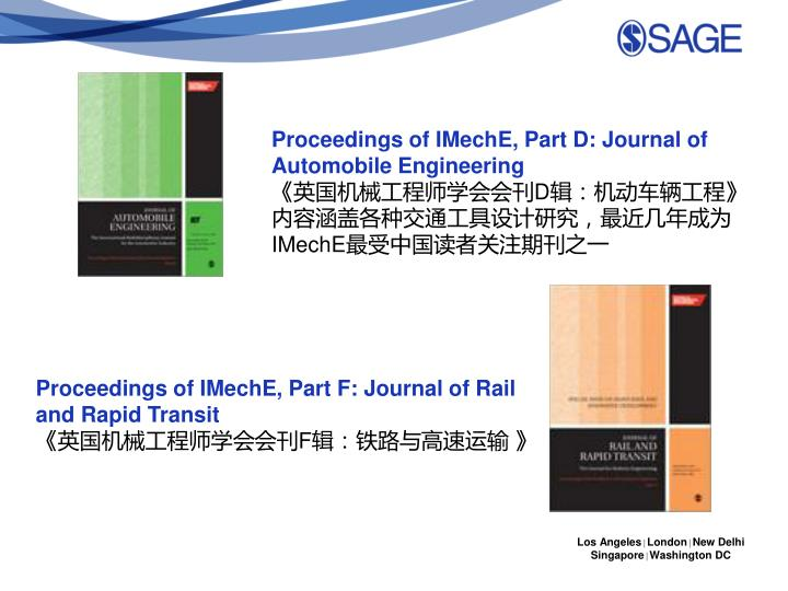 Proceedings of IMechE, Part D: Journal of Automobile Engineering