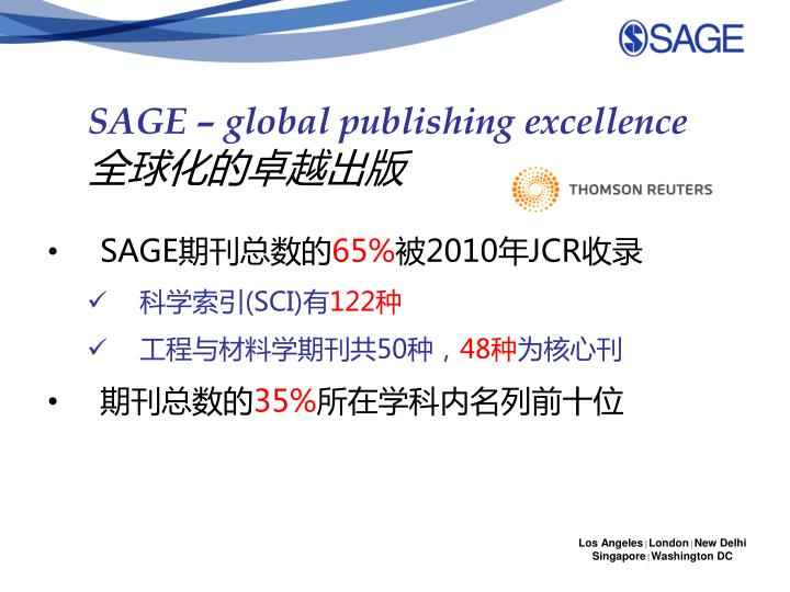 SAGE – global publishing excellence