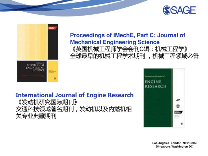 Proceedings of IMechE, Part C: Journal of Mechanical Engineering Science
