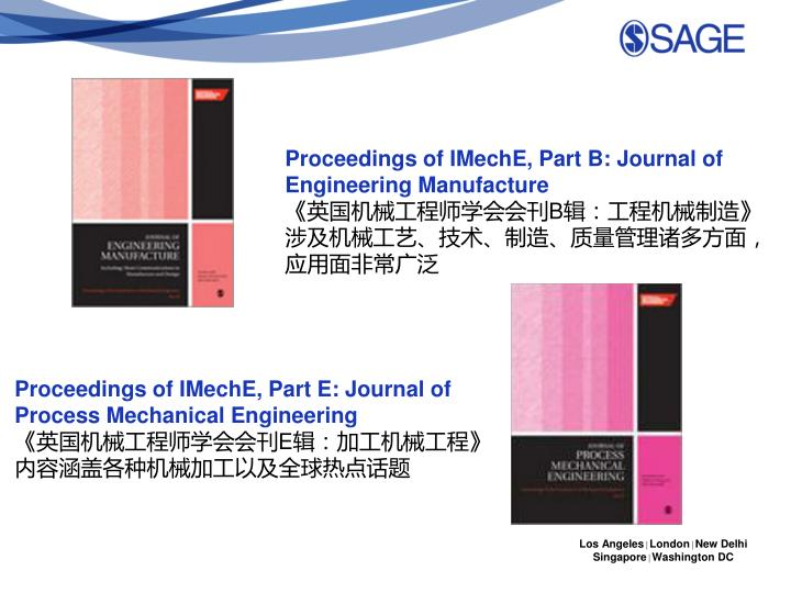 Proceedings of IMechE, Part B: Journal of Engineering Manufacture