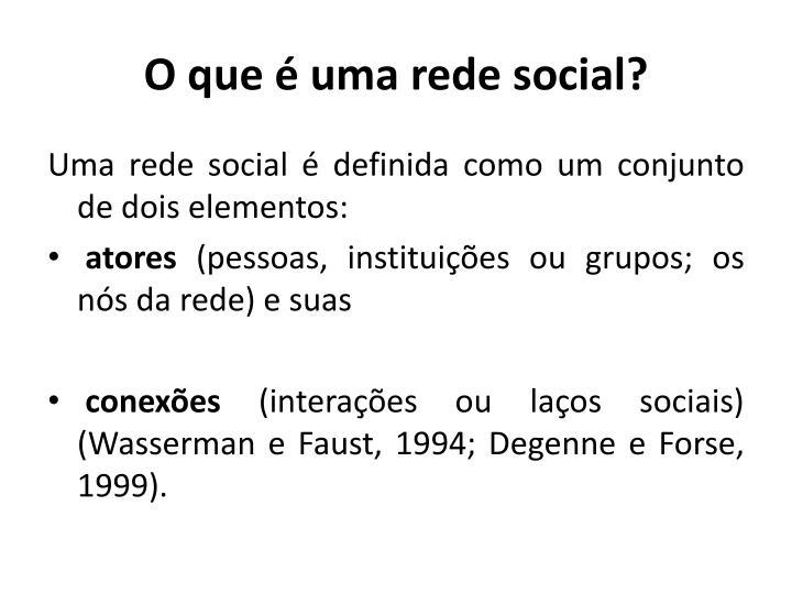 O que é uma rede social?