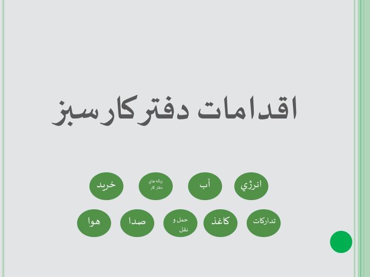 اقدامات دفتر کار سبز
