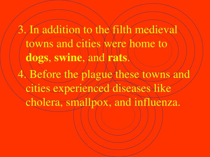 3. In addition to the filth medieval towns and cities were home to