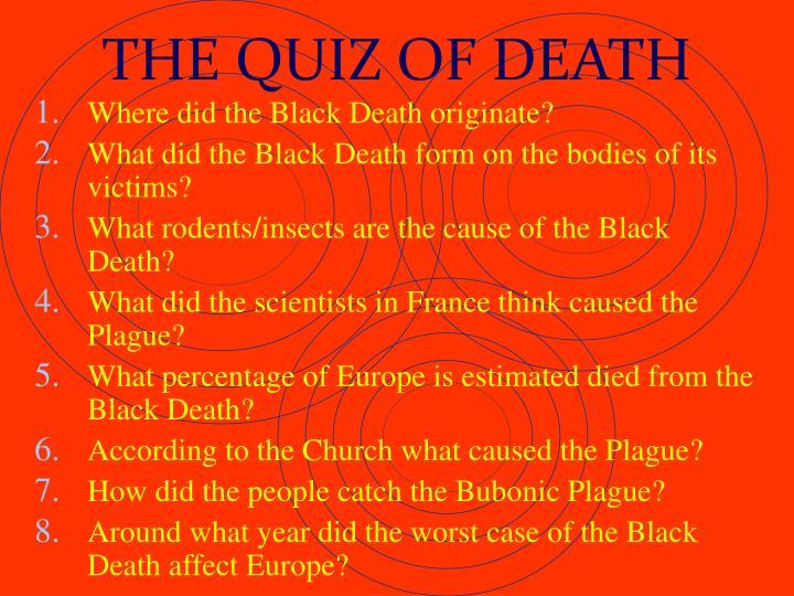 THE QUIZ OF DEATH