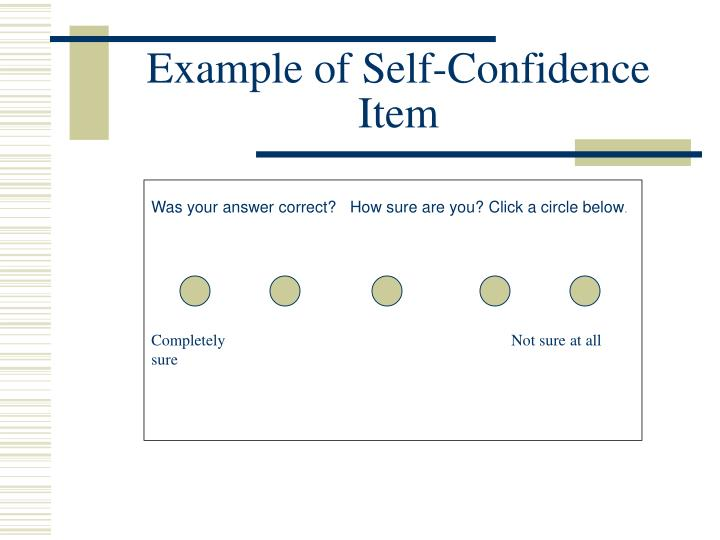 Example of Self-Confidence Item