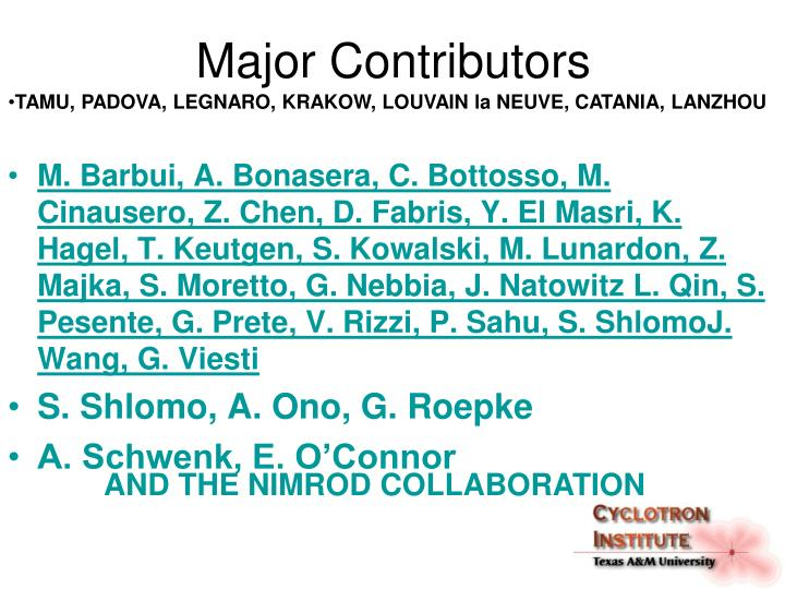 Major Contributors