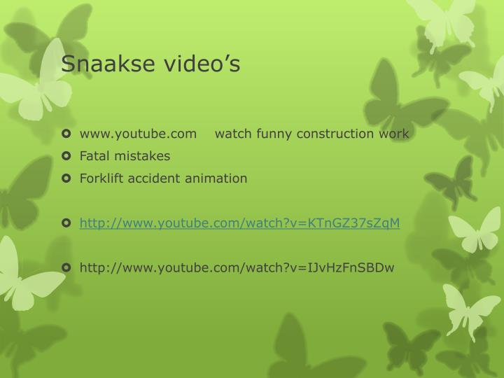 Snaakse video's