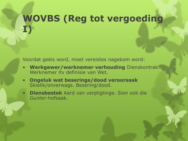 WOVBS (Reg tot vergoeding I)