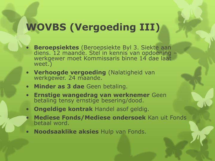 WOVBS (Vergoeding III)