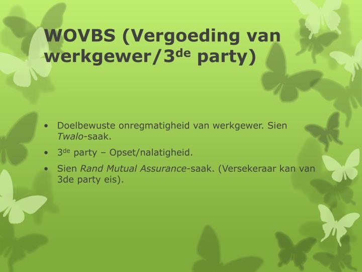 WOVBS (Vergoeding van werkgewer/