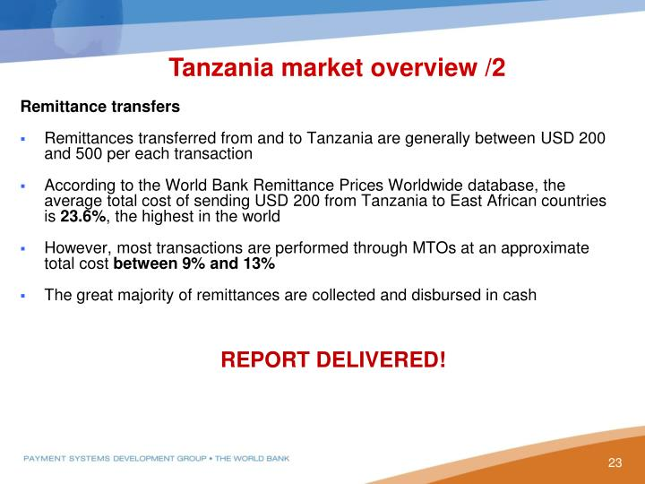 Tanzania market overview /2
