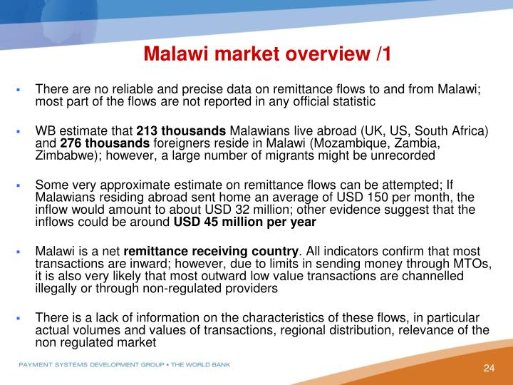 Malawi market overview /1