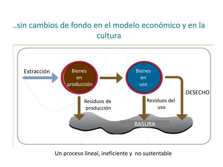 ..sin cambios de fondo en el modelo económico y en la cultura