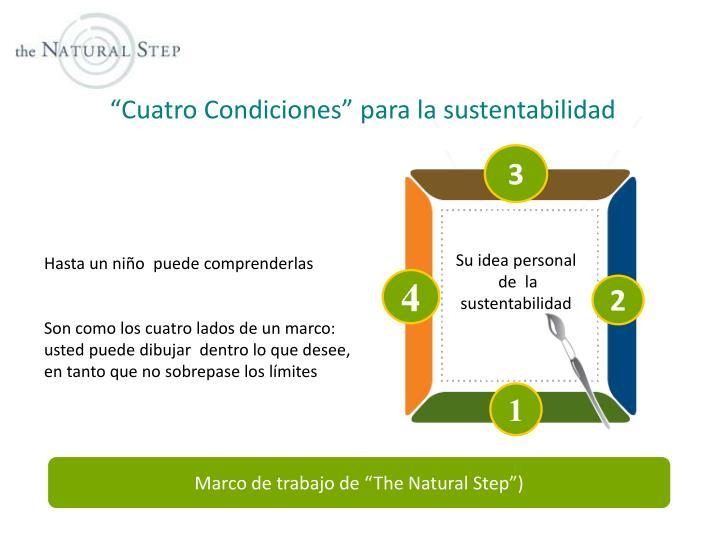 """""""Cuatro Condiciones"""" para la sustentabilidad"""