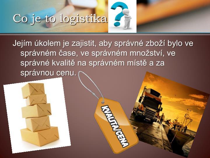 Co je to logistika