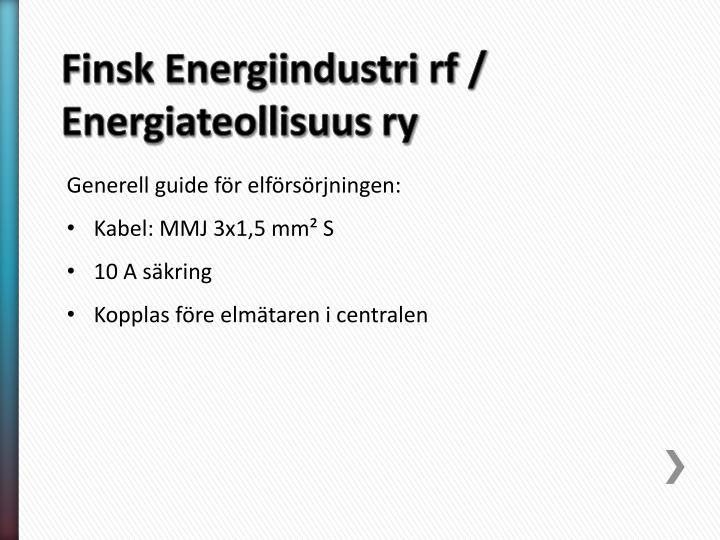 Finsk Energiindustri