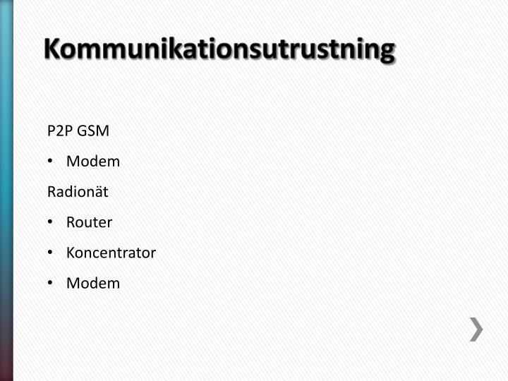 Kommunikationsutrustning