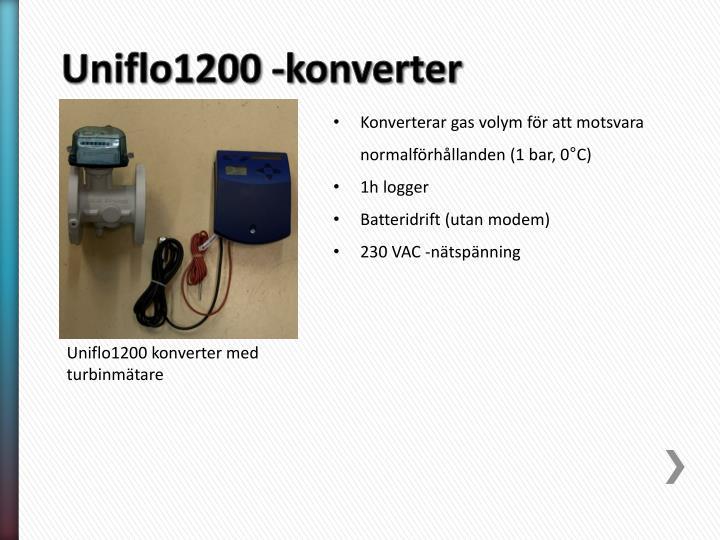 Uniflo1200 -konverter