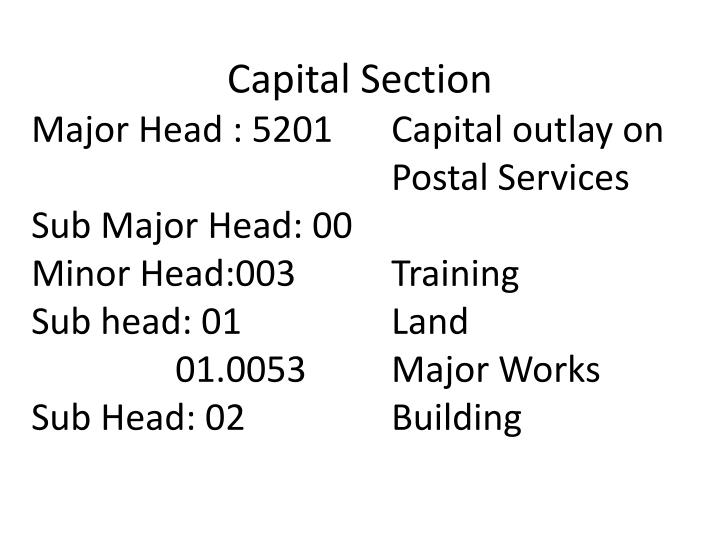 Capital Section