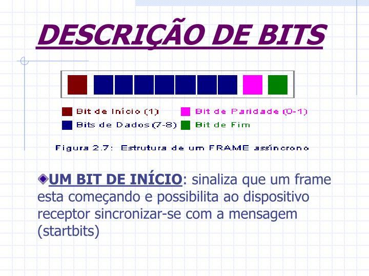 DESCRIÇÃO DE BITS