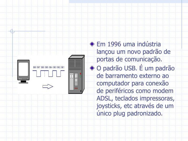 Em 1996 uma indústria lançou um novo padrão de portas de comunicação.