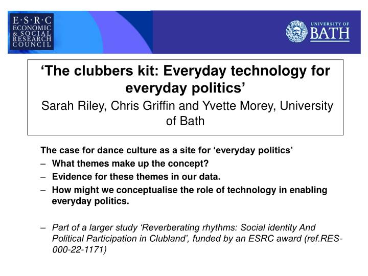 'The clubbers kit:
