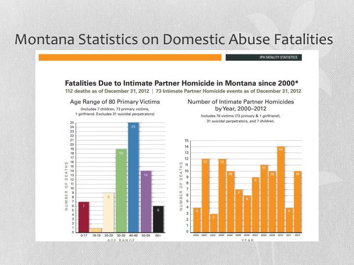 Montana Statistics on Domestic Abuse Fatalities