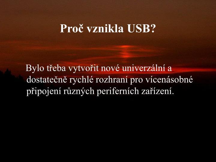 Proč vznikla USB?